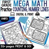 Digital Counting Patterns and Number Lines Google Slides™ Mega Practice 1.NBT.1