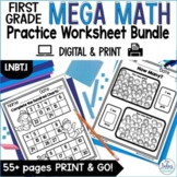 First Grade Math Counting and Number Lines Mega Practice 1.NBT.1