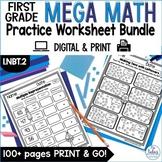 Place Value Worksheets First Grade Math Mega Practice 1.NBT.2