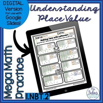 Number Sense Understanding Place Value First Grade Math Mega Practice 1.NBT.2