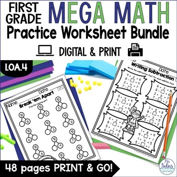 First Grade Math Properties of Operations Mega Practice 1.OA.4