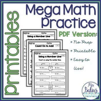 First Grade Math Properties of Operations Mega Practice 1.OA.5
