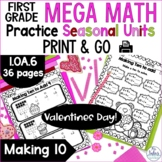 Addition and Subtraction Strategies Mega Math Practice Val