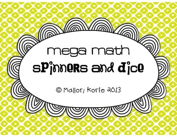 Mega Math Spinners and Dice