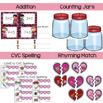 Mega Math and Literacy Valentine's Pack!