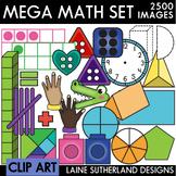 Mega Math Clip Art Bundle - 490 MATH CLIP ART IMAGES!!