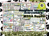 HUGE Mega Monster themed bundle! labels, tags, alphabet strip, banner!