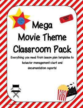 Mega Movie Theme Classroom Pack