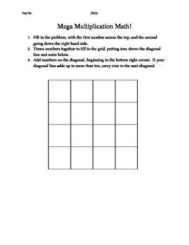 Mega Multiplication! (supporting worksheet)