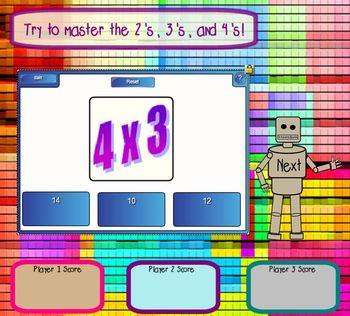 Mega-Multiplier! (Multiplication Fact Fluency Game)