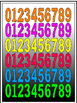 Mega Numbers Kit 0-9 (Special Bargain price)