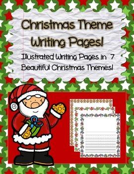 Mega Pack! ~ Christmas / Noël Theme Illustrated Writing Paper
