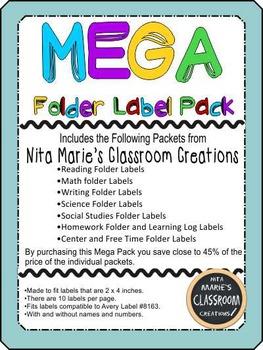 Mega Pack Folder Labels (editable)