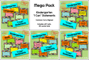 Mega Pack 'I Can' Statements-Kindergarten-Common Core