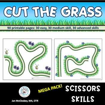 Mega Pack Scissors Skills:  Cut the Grass But Save the Bugs!