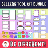 Seller's Tool kit Bundle - Frames, Shapes, Backgrounds, M. Exerc....