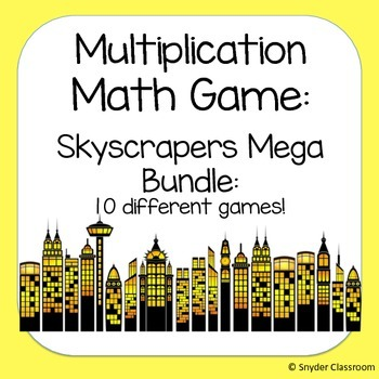 Multiplication Facts Math Game  Bundle (10 different game