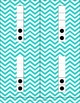 Mega Pack of Number Frames with dots in Aqua Chevron