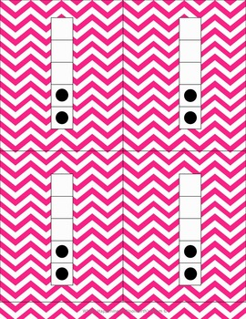 Mega Pack of Number Frames with dots in Magenta Chevron