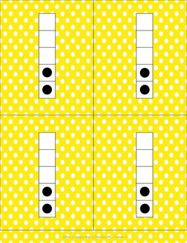 Mega Pack of Number Frames with dots in Yellow Polka Dots