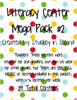 Mega-Packet of Literacy Centers PART TWO (29 Centers!!)
