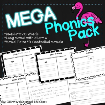 Mega Phonics Pack- Blends, CVC Words, CVCe Words, R- Controlled Vowels, and more