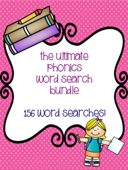 The Ultimate Phonics Word Search Bundle! {156 word searches}