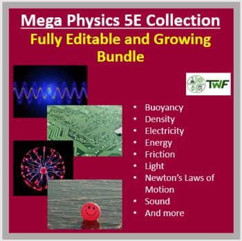 Mega Physics 5E Lesson Collection – Fully Editable and Growing Bundle