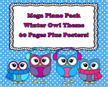 Mega Piano Pack - Winter Owl Theme - 60 Pages Plus Posters!