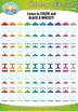 Mega Rainbow Empty Glass Jars Clip Art Set — Over 75 Bright Graphics!