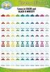 Rainbow Empty Glass Jars Mega Bundle Clipart {Zip-A-Dee-Doo-Dah Designs}