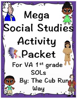 Mega Social Studies Pack! Newport, Jefferson, Pocahontas and more!