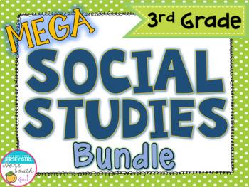 Mega Social Studies Unit Bundle - 3rd Grade - GSE Aligned