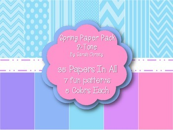 Mega Spring Paper Pack~100 papers~300 DPI {Commercial Use OK}