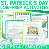 St. Patrick's Day Activity Pack   Depth & Complexity   Pri