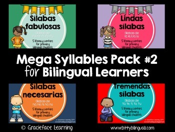 Mega Syllables Pack #2 for Bilingual Students - Spanish!