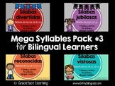 Mega Syllables Pack #3 for Bilingual Students - Spanish!