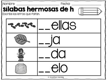 Mega Syllables Pack #4 for Bilingual Students - Spanish!