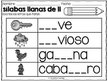 Mega Syllables Pack #6 for Bilingual Students - Spanish!