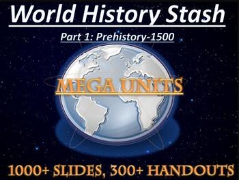 Ancient World History Curriculum- Mega Units Part 1 (Prehistory-Renaissance)