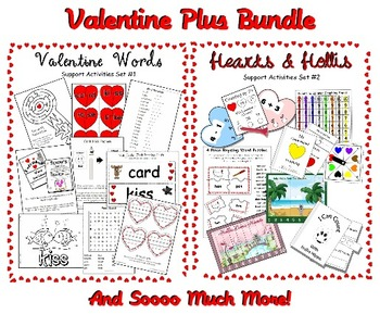 Mega Valentine Bundle - Common Core - Centers, Printables,