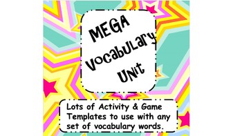 Mega Vocabulary Unit