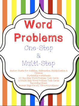 Mega Word Problem Pack (one-step & multi-step) Common Core