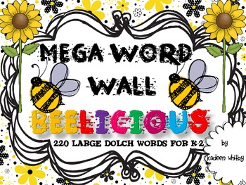 Mega Word Wall BEE THEME 220 WORDS