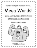 Multisyllabic EE/EA Phonics Activities {RTI and Common Core Aligned}