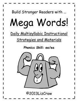 Multisyllabic EE/EA Phonics Activities {RTI and Common Core Aligned}