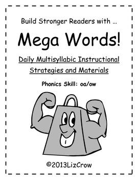Multisyllabic OA/OW Phonics Activities {RTI and Common Cor