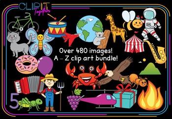Mega-bundle! Over 480 Alphabet A - Z Clip Art images!