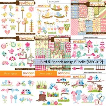 Mega bundle clip art (9 packs) bird and friends