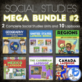 MegaBundle #2: Geography, Regions Lapbooks and More for 3rd grade Social Studies
